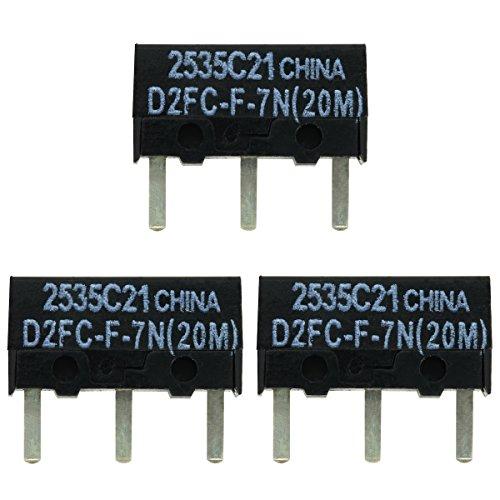 IT-Services Irro 3X D2FC-F-7N(20M) Mikroschalter Reparatur-Satz/Repair-Kit passend für Mäuse von Logitech, Razer, Roccat, SteelSeries und Weitere
