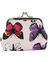 Rawdah Mariposa para mujer pequeño cartera titular de la tarjeta monedero monedero bolso de embrague