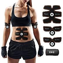 Elettrostimolatore Muscolare Trainer, Charminer Uomo/Donna Addome/Gambe/Waist/Glutei Massaggi-attrezzi USB Ricaricabile