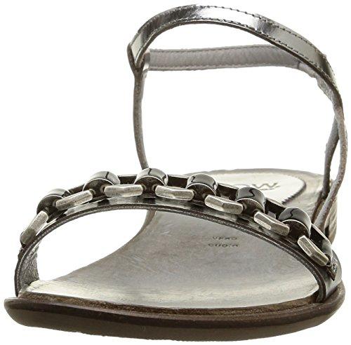 NOW 2857, Sandales femme Gris (Metal Acciaio/Access Nickel Nero)