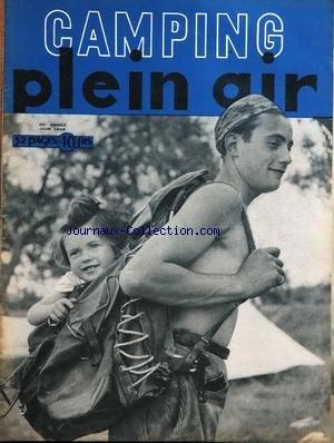 CAMPING PLEIN AIR du 01/06/1948