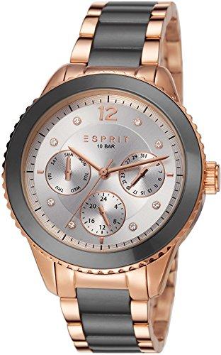 Esprit ES106712005 - Reloj analógico de cuarzo para mujer, correa de acero inoxidable chapado color oro rosa