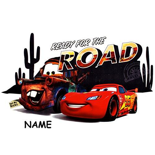 Unbekannt 3 Stück _ große - XL - Fensterbilder -  Disney Cars / Lightning McQueen - Auto  - inkl. Name - 41 cm - statisch haftend - selbstklebend + wiederverwendbar /..