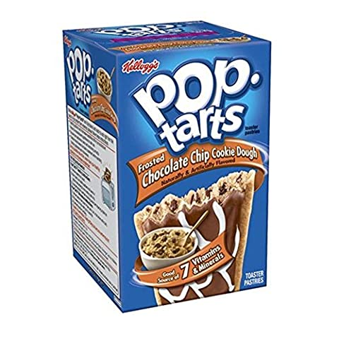 Kelloggs Pop-Tarts Blueberry Cherry Raspberry Chocolat Smore Cookies and Creme Cinamon Rolls Chip Confetti Cupcake Brown Sugar Fugde Sunday Grape Strawberry (Chocolate Chip Cookie Dough Frosted)