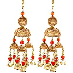 Mansiyaorange Traditional Wedding Wear Punabi Red kalere/Kaleera/Kalera/Bridal Hand Hanging/kaleera for Brides/Girls/Women(AAA AD Stone Premium Range)(8 Inch Long 3.5 Inch Wide)