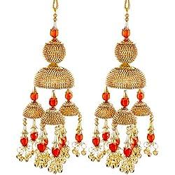 Mansiyaorange Traditional Wedding Wear Punabi Red kalere/Kaleera/Kalera/Bridal Hand Hanging/kaleera for Brides/Girls/Women(AAA AD Stone Premium Range)(8 Inch Long 3.5 Inch Wide)
