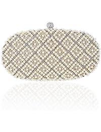 Damara Elegante Mujeres Carteras Caja Dura Con Cristal Y Perla Regalo