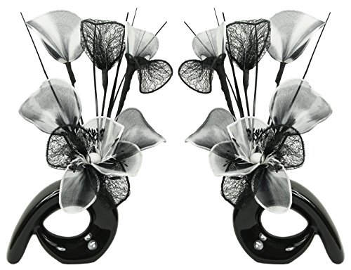 Flourish 794194 Mini Swirl - Par jarrones Flores Artificiales