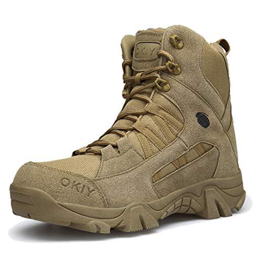 �e Spezialeinheiten Wanderschuhe Outdoor High-Top Wüstenstiefel Taktische Militärschuhe für Herren Arbeitsdienstprogramm Schnürstiefeletten,Brown,44 ()