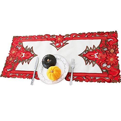 TianranRT Weihnachten Speisen Tisch Matte Schüssel Tischset Dekor für Weihnachten Abendessen Party