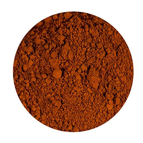 Premium Farbpigment Oxidrot 50 ml | für Farben, 2-K Harze, Öl-, Gouache-, Acrylmalerei, für Beton und Zement uvm. | in der praktischen, wiederverschliebaren Glasampulle -