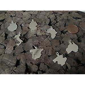 Zierliche Wunsch Landkarten Anhänger in 925er Silber (aus Europa)