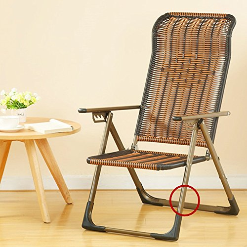 GLJ Folding Lounge Chair Mittagspause Couch Büro Bett Liege Zurück Faul Stuhl Stuhl Balkon Strandkorb Klappstuhl (Farbe : Round Feet)