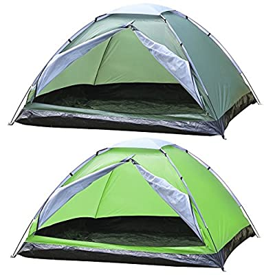tinkertonk Outdoor Portable 4 Person Tent Dome Camping Family Tent, Green&Army Green, Waterproof by tinkertonk