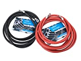 eXODA Batteriekabel Set 50 mm² 200cm Kupfer Stromkabel mit Ringösen M8 rot und schwarz