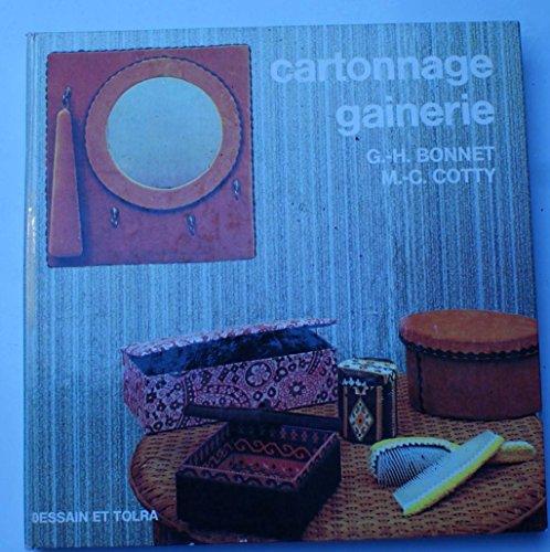 Cartonnage, gainerie par G.-H. (Gérard-Henri) Bonnet, M.-C Cotty
