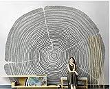 BHXINGMU Wandbild Individuelle Fototapeten Jahresringe Kunsttapeten Große Schlafzimmerwanddekoration 250Cm(H)×360Cm(W)
