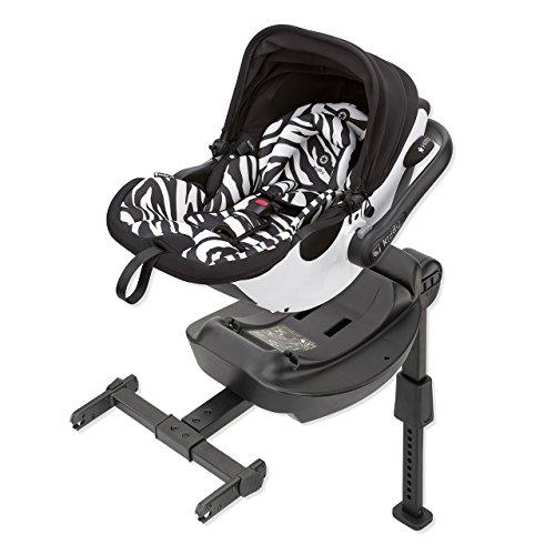 Preisvergleich Produktbild Kiddy 41940EL600 Evoluna i-Size Babyschale inkl. Isofix Base, patentierte KLF-Liegefunktion, i-Size (Geburt-83 cm, Geburt-ca. 15 Monate), Zebra (weiß)