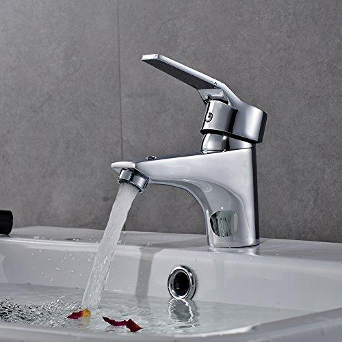 Auralum® Design Einhebel Wasserhahn Armatur Waschtischarmatur Einhandmischer für Badezimmer Waschbecken - 2