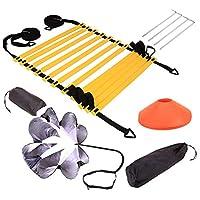 Football Basketball Agility Speed Training Adjustable Ladder Disc Resistant Set Speed Umbrella Agility Training Set