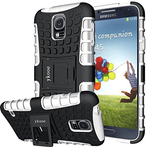 Preisvergleich Produktbild Galaxy S5 Hülle,S5 Hülle ykooe (TPU Series) Dual Layer Hybrid Handyhülle Drop Resistance Handys Schutz Hülle mit Ständer für Samsung Galaxy S5 (Weiß)