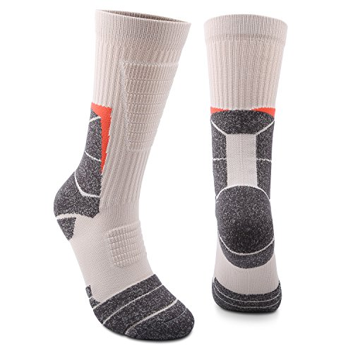 Athletic Socks Outdoor Sports High Crew Socks Wicking Cushion For Soccer Basketball Hiking