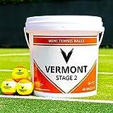 Vermont Mini Balles de Tennis Oranges – Seau de...
