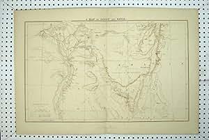 Terre Antique Goshen de Pyramides de l'Egypte Sinai Arabie de Carte