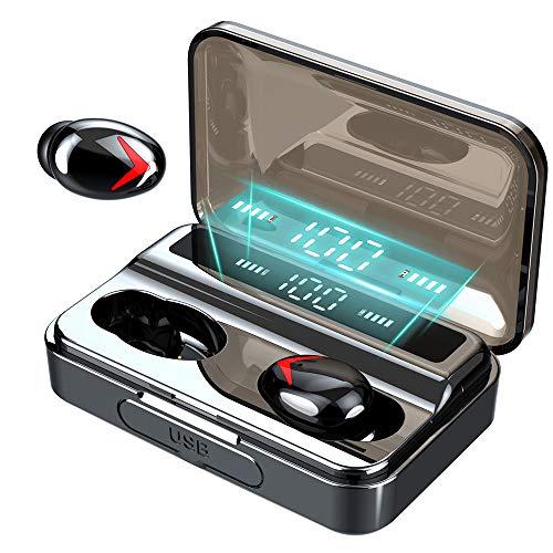 Bluetooth Kopfhörer【Neuestes Modell】, Donerton Kopfhörer Kabellos In Ear Earbuds, IPX7 Wasserdicht Sport Wireless Kopfhörer mit 130H Spielzeit, LED Digitalanzeige, Deep Bass HD-Stereo, Touch-Control