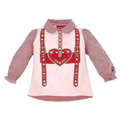 BONDI BONDI Baby Mädchen Trachtenpoloshirt ´Hosenträger´Artrnr. 86004 Größe 62