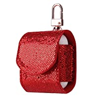 jianghang New Glitter Sequins Protective Cover Case Wireless Headphone Skin Sleeve Pouch Box Protector(None RD)