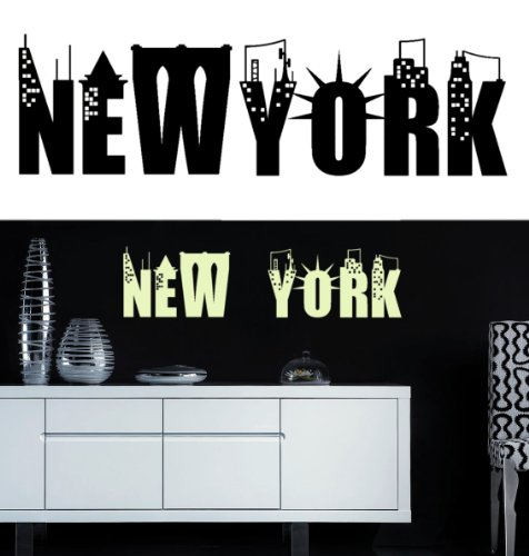 Sticker mural New York (sticker noir)
