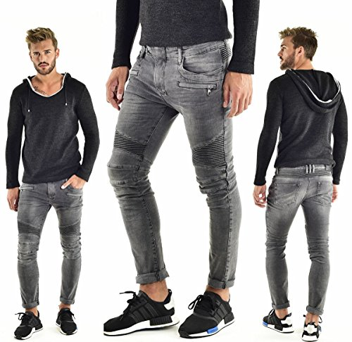 VSCT Clubwear Uomo Jeans / Antifit Liam Biker Grigio