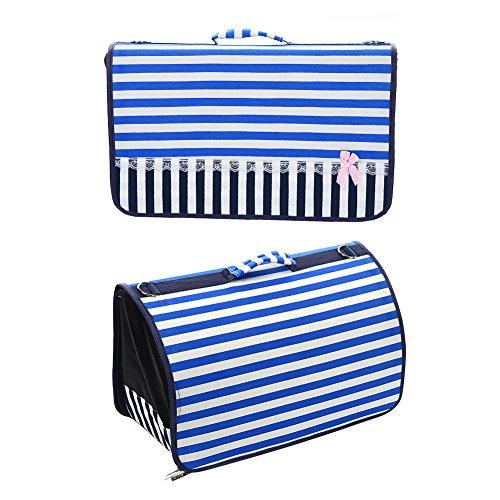 yunt atmungsaktiv Tragegriff Tasche mit verstellbarer Sattel Tasche Geschirr blau für Pet (Sattel Tasche Sling)