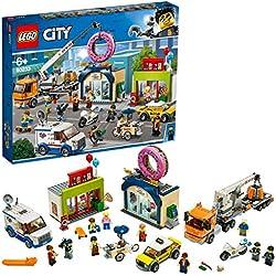LEGO®-City L'ouverture du magasin de donuts Enfant de 6 Ans et Plus, Jouet de Construction, 790 Pièces 60233