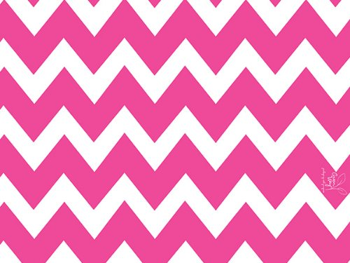 Chevron Stripe Hot Pink 24 inch X417ftRecycled Gift Wrap Counter Roll