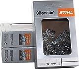 Stihl 3610 000 0050 Lot de 3 chaînes de tronçonneuse Picco Micro 3/8P-1,1-50 pour Stihl MS170 35 cm