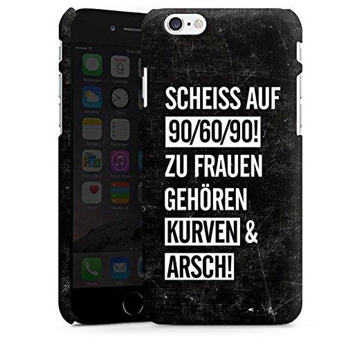 Apple iPhone X Silikon Hülle Case Schutzhülle Frauen Kurven Spruch Premium Case matt
