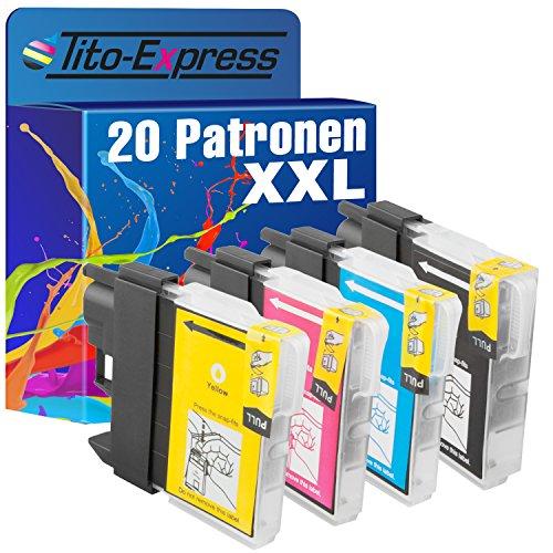 PlatinumSerie® 20 Patronen XL kompatibel zu Brother LC980 LC985 LC1100 für Brother DCP- MFC-Serie -