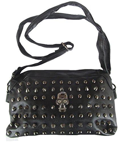 Rockabilly Punk Rock Baby Negro Black Calavera bolso bag