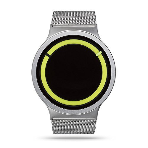 ZIIIRO Eclipse Unisex Relojes de Acero Cromado limón