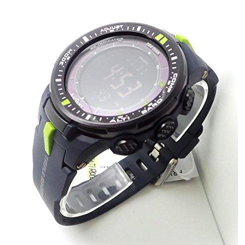 Uhr Casio Pro Trek PRW-3000Quarz (Batterie) Stahl Quandrante grau Armband Silikon