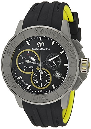 Technomarine Men's TM-515002 Titanium Reef Analog Display Swiss Quartz Black Watch