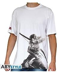 AbyStyle - T-Shirt - Tomb Raider - Lara Croft MC Blanc Taille L - 3700789202127