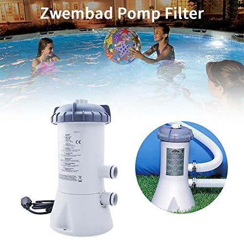 hinffinity Wasserpumpe, Wasserpumpe, Pool-Pumpe, für schnelles Set aus Stahl, für Schwimmbad, Garten, Außenfilter, Durchflussreinigungsfilter, Pumpe, Grau, 530 Liter