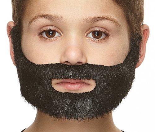Mustaches Selbstklebende Kleiner Nobleman Fälschen Bart für Kinder Schwarz Glänzender ()