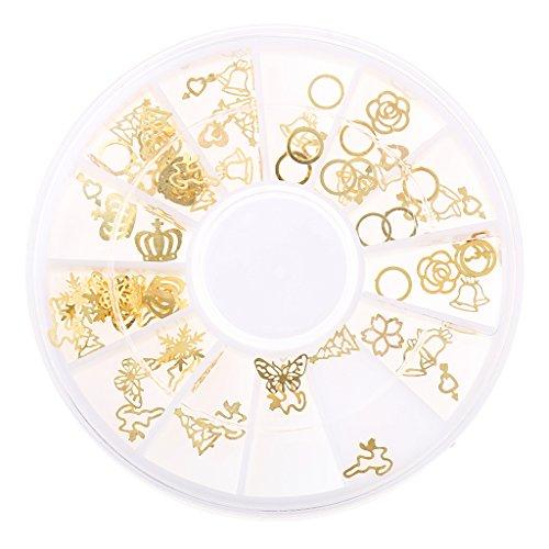 3D Nagelkunst Nagelschmuck Nail Tips Dekorationen Perlen Sticker Nail Art Nagelstudio - Mischfarbe 07, Style 10