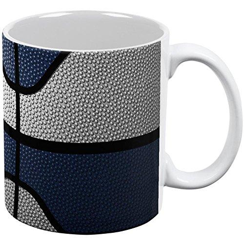 Old Glory Championship Basketball weiß & Navy Blau alle über Kaffee Mug weiß Standard eine Größe (Blau Mugs Weiß)