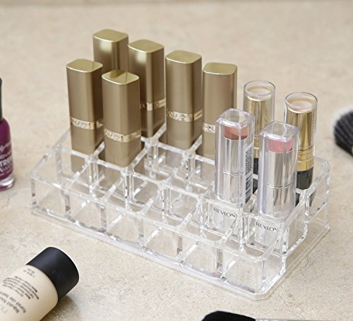 Bulfyss Premium Acrylic Cosmetic Organiser To Hold 18 Lipsticks, Nail Paints - Valentine Gift