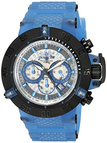 Invicta Men's 'Subaqua' Quartz Stainless Steel and Silicone Casual Watch, Color:Blue (Model: 24366) image